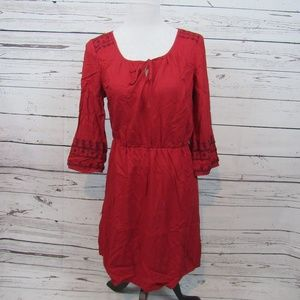 Old Navy peasant-style red embroidered dress